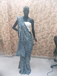 Pearl Work Saree