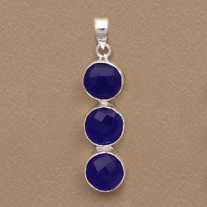 Blue Chalcedony Gemstone Pendant