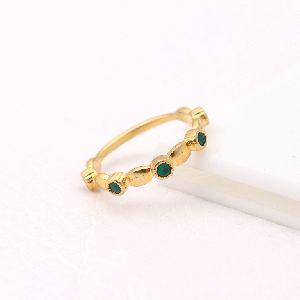 Green Onyx Gemstone Ring