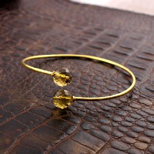 Yellow Citrine Gemstone Bracelet