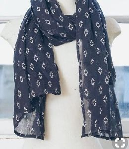 Ladies Printed Cotton Scarf