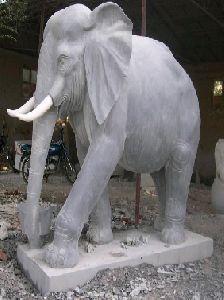 Black Marble Elephant Statue