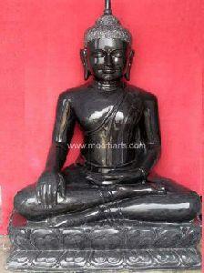Black Marble Gautam Buddha Statue