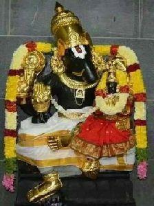 Black Marble Narsingh Bhagwan Statue