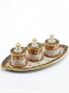 Marble Dry Fruit Tray Set