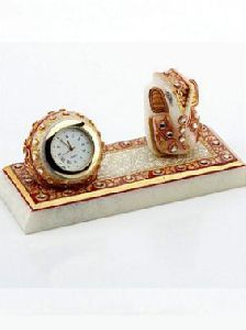 Marble Ganesh Idol With Table Watch
