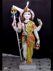 White Marble Ardhanarishvara Statue
