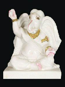 White Marble Musical Ganesha Statue