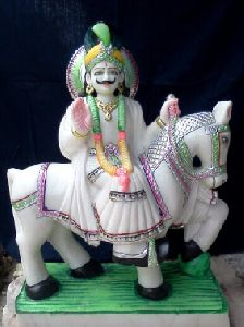 White Marble Ramdev Statue