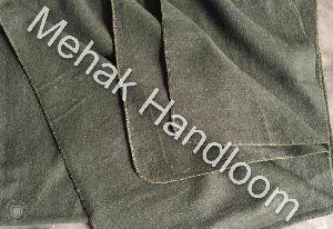 Olive Green USA Woolen Blanket