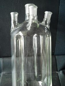 Cylindrical Glass Vessel
