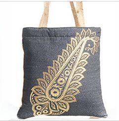 Foil Printed Canvas Tote Bag