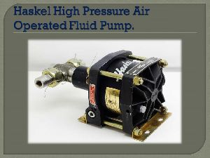Haskel High Pressure Air Operated Fluid Pump