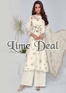 Embroidered Unstitched Cotton Suit