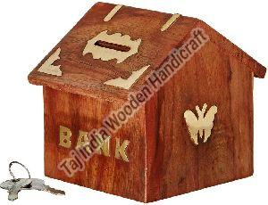 Wooden Money Bank