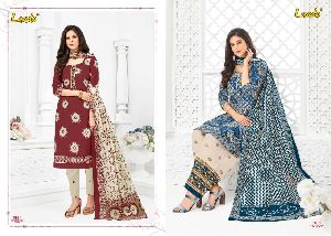 Laado Cotton Printed Dress Materials