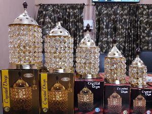 Brass Large Crystal Diya