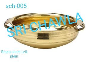 Brass Plain Sheet Urli