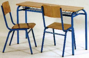School Desk and Chair Set