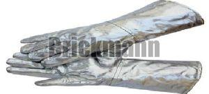 Aluminized Glass Hand Gloves