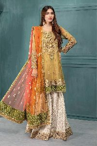 Embroidered Net Suits