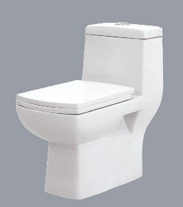 Hot Sale White Glazed Sanitary ware One Piece WC Toilet