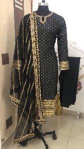 Ladies Black Party Wear Suit