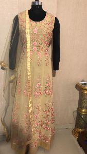 Ladies Golden Designer Suit