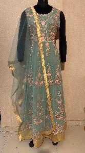 Ladies Green Designer Suit