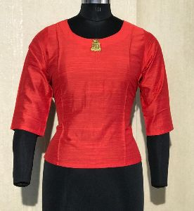 Red Full Sleeves Blouse