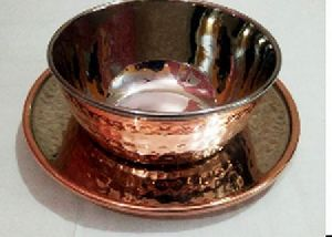 Copper Stainless Steel Finger Bowl with Plate