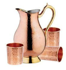 IAC-752WG Stainless Steel & Copper Jug Set