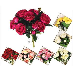 Plastic Artificial Peony Flower Bunch