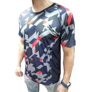 Mens Printed Sports T-Shirt