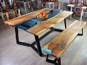 Epoxy Dining Table Set