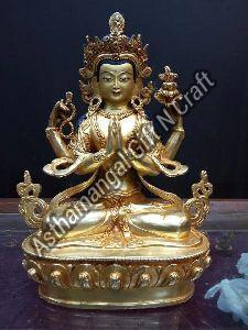 Brass Buddhist Deities Statue
