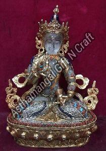 Crystal Buddhist Deities Statue