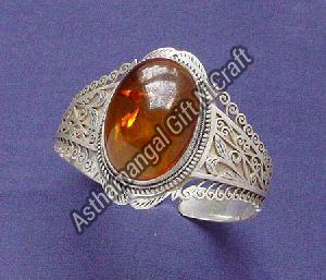 Tibetan Single Stone Cuff Bracelet