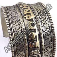 Tibetan Silver Cuff Bracelet