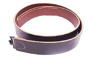 German Army Heer Black Leather Belt