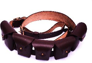 Leather Five Pocket Bandolier