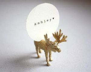 Deer Shaped Card Holder