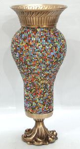 Glass Mosaic Decorative Flower Vase