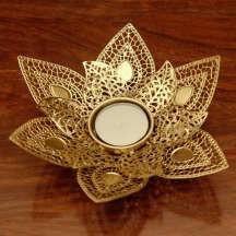Leaf Shaped Tea Light Candle Holder