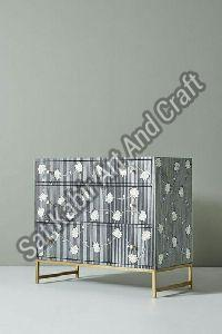 Bone Inlay 3 Drawer Chest