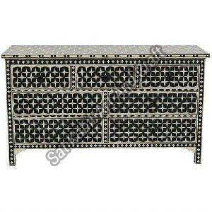 Bone Inlay 7 Drawer Chest