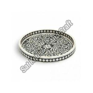 Bone Inlay Round Tray