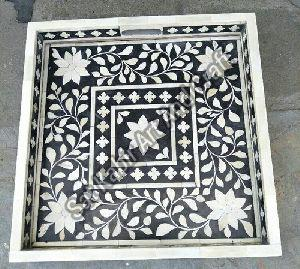 Bone Inlay Square Tray