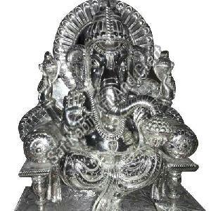 Silver Ganesha Statue