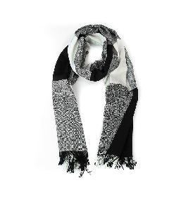 Black & White Merino Wool Stole